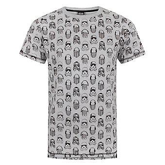 Star Wars Mens The Last Jedi All Over Print T-Shirt
