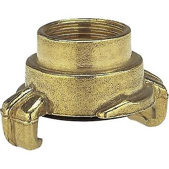 GARDENA 7106-20 Acoplamiento de garra de bloqueo de latón - pieza roscada acoplador de mandíbula, 18,7 mm (1/2) IT