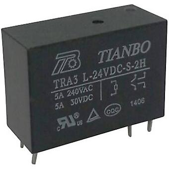 Tianbo Electronics TRA3 L-24VDC-S-2H PCB relay 24 V DC 8 A 2 makers 1 pc(s)