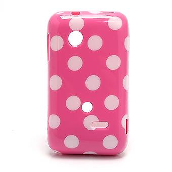 Beschermhoes voor mobiele telefoon Sony Xperia tipo ST21i ST21a Rosa