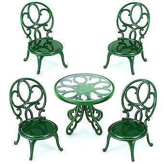 Famílias de Sylvanian ornamentado jardim mesa e cadeiras