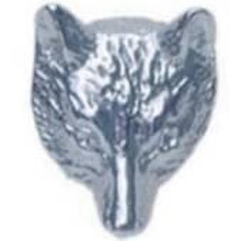David Van Hagen Fox Mask Sterling Silver Tie Tacs - Silver