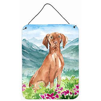 Mountain Flowers Vizsla Wall or Door Hanging Prints