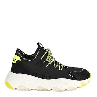 Ash EXCAPE Black Silver Fluo Yellow  Mesh Platform Trainers