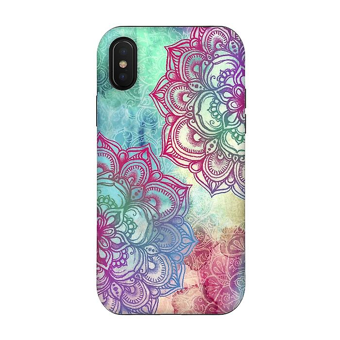 ArtsCase Designers Cases ROUND AND ROUND THE RAINBOW for Tough iPhone Xs / X