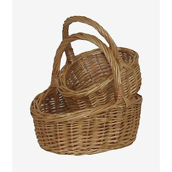 Shopping Basket Childs Buff Shopper Set 2