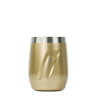 EcoVessel EcoVessel PORT Wine Tumbler with Lid - Gold Dust Painted 10 oz
