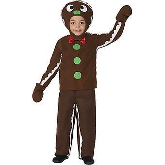 小さな生姜男衣装、小さな年齢 4-6