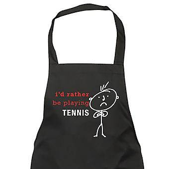 Mannen Ik zou liever spelen Tennis schort