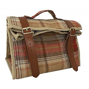 Efteråret røde Tartan Picnic køler taske