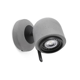 Faro - Stone Grey Single Adjustable Wall Spotlight FARO43500