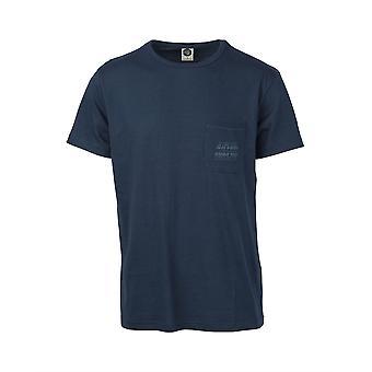 Rip Curl T-Shirt With Pocket ~ Organic d blue