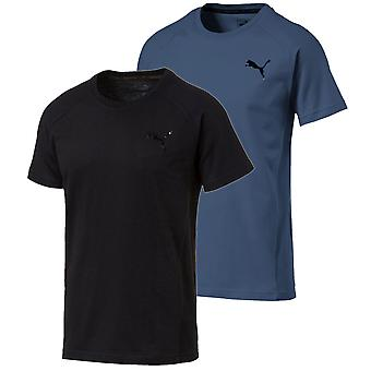 Puma Evostripe movimento Mens rodando a camisa de treino de Fitness