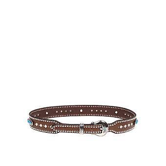 Nanni 160cuoio Women's Brown Leather Belt