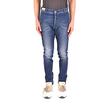 Daniele Alessandrini Ezbc107079 Men's Blue Cotton Jeans