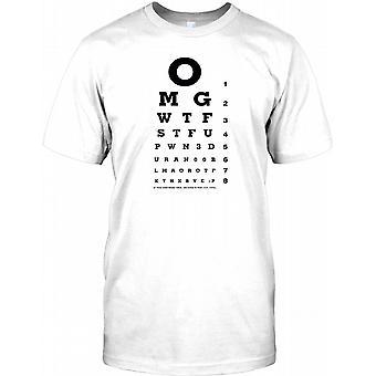 OMG WTF lustige Wortspiele Seufzen Test Herren-T-Shirt