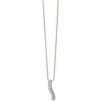 Начало волнистые бар ожерелье - серебро
