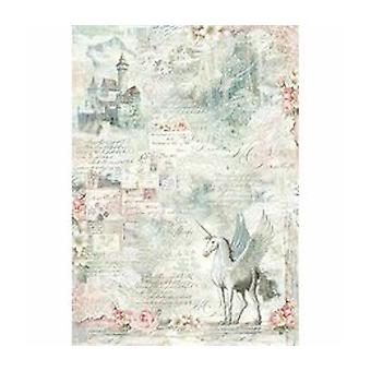 Stamperia Rice Paper A3 Unicorn Fantasy