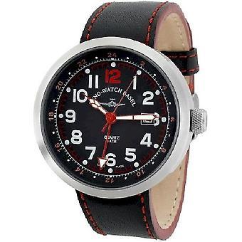 Zeno-watch mens watch Rondo (dual time) B554Q-GMT-a17