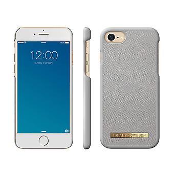 iDeal de Suecia iPhone 8/7/6/SE (2020) Saffiano Shell - Gris