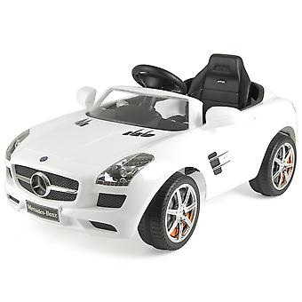 Licenced Mercedes Benz SLS AMG Electric Ride On White