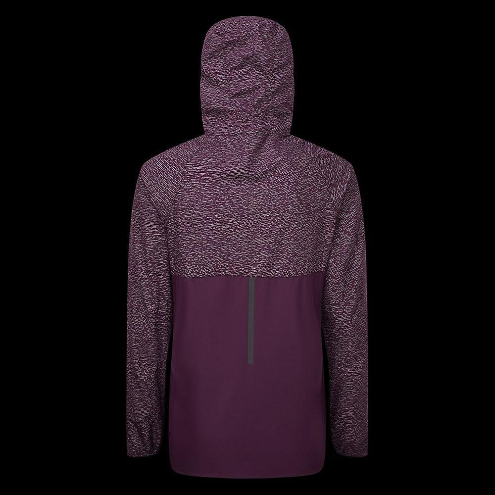 Ronhill Momentum Afterlight Womens Water Resistant & Hi Vis Running Jacket Aubergine/blossom