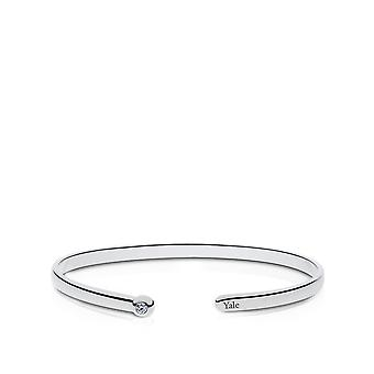 Yale University Diamond Cuff Bracelet In Sterling Silver Design by BIXLER