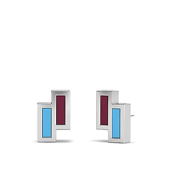 West Ham United FC Stud Earrings In Sterling Silver Design by BIXLER