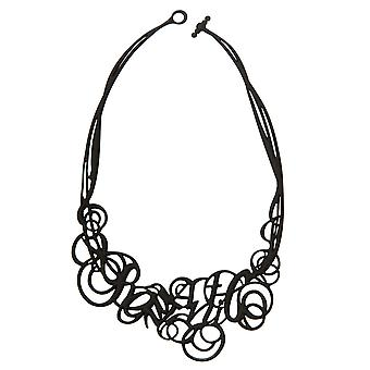Batucada Skin Jewellery Black Romantic Necklace 10-01-01-02-BLACK