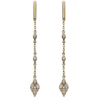 Elementer Gold deco Diamond drop øredobber-gull/sølv