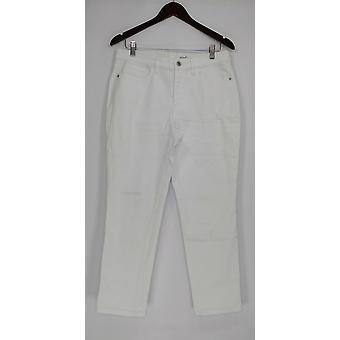 Denim & Co. Dame&s Jeans Klassisk Denim Tynn Hvit A304475 PTC
