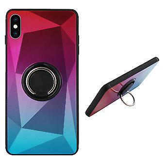 Bagcover ring/magnet Aurora iPhone XS pink + blå