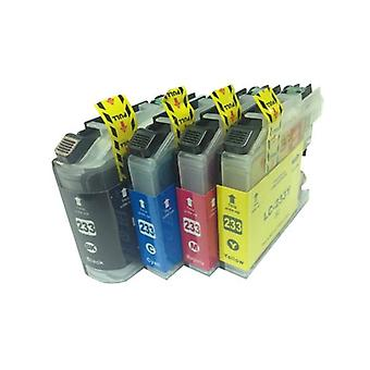 LC-233 Premium Inkjet Cartridge Boxed Set (4 Cartridges)