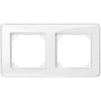 Merten 2x Frame M-Creativ Transparent, Polar white MEG4020-3500