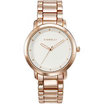 Fiorelli dameshorloge gouden armband witte wijzerplaat FO044RGM