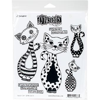 """Dyan Reaveley's Dylusions Cling Stamp Collections 8.5""""X7"""" - Puddy Cat"""