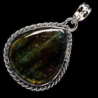 Labradorite 925 Sterling Silver Pendant 1 3/4