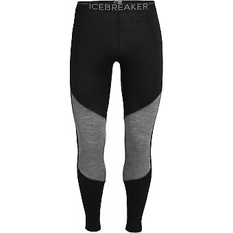Icebreaker 200 Oasis Deluxe Leggings - Black/Gritstone Heather