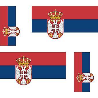 4 X Aufkleber Aufkleber Aufkleber Auto Motorrad Valise Pc tragbare Flagge Serbien Serbien