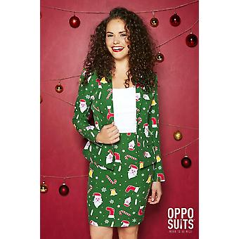 Santababe Santa Christmas Women's Costume Opposuit Slimline 2-piece Premium
