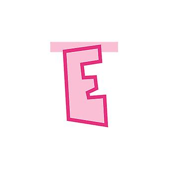 Linking Banner 20cm Pink Letter - E Party Decoration