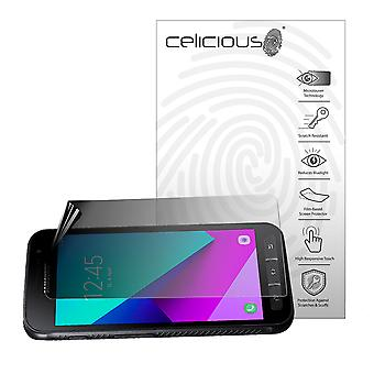 Celicious Privacy 2-Way Landscape Anti-Spy Filter Screen Protector Film Compatible with Samsung Galaxy Xcover 4