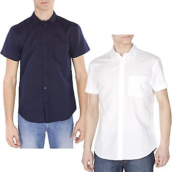 Wrangler Mens Shortsleeve Casual Smart Button Down Slim Fit Shirt Top