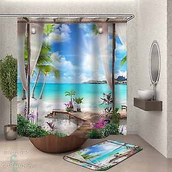 Tropical Vacation Shower Curtain