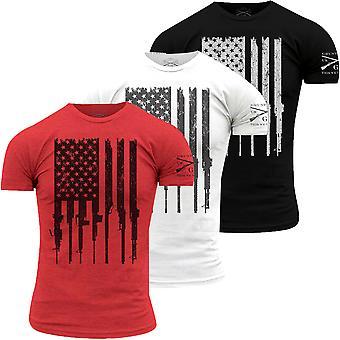 Grunt stil rifle flagg Crewneck T-skjorte