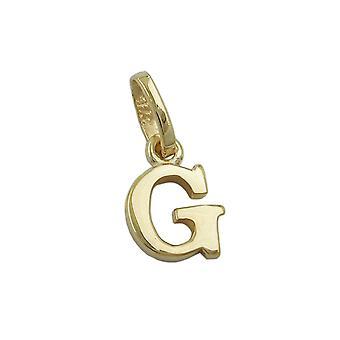 simple lettre minuscule pendentif or 375 abonnés Regardé:, lettre G, 9 KT GOLD