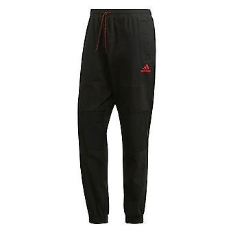 2019-2020 Man Utd Adidas sezonier pantaloni de fleece (negru)