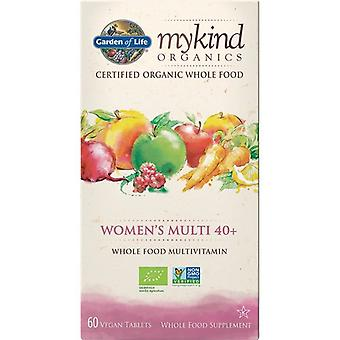 Garden of Life Mykind Organics naisten 40 + Multi Caps 60 1225