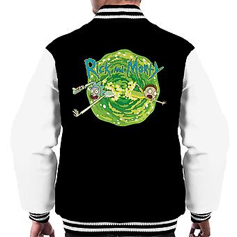 Rick and Morty Portal Jump Men's Varsity Jacket