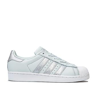 Adidas Originals Superstar-trænere i blå nuance/sølv metallic